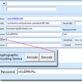 Outlook Contact for Internet Addresses featuring Password Encryption